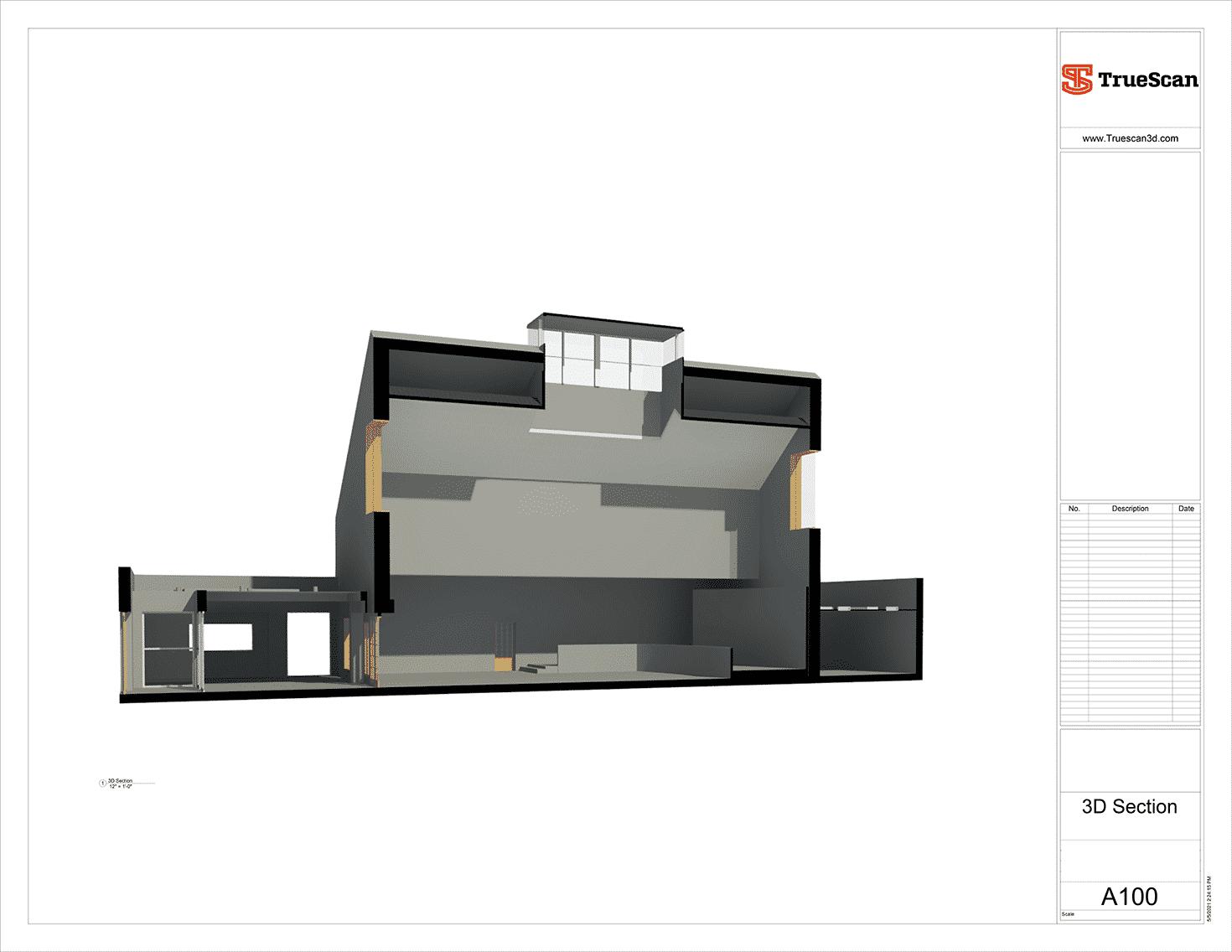 as-built plan, 3D model